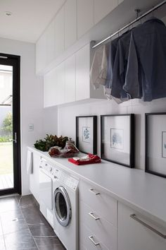"Outstanding ""laundry room storage diy shelves"" info is available on our internet site. Read more and you wont be sorry you did. Small Laundry, Laundry In Bathroom, Modern Laundry Rooms, Laundry Decor, Laundry Room Inspiration, Laundry Room Organization, Laundry Room Design, House Ideas, House Design"
