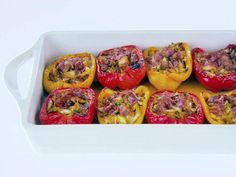Get Giada De Laurentiis's Crab and Prosciutto-Stuffed Peppers Recipe from Food Network