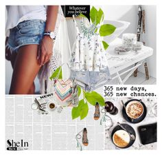 """""""SheIn"""" by amimcqueen ❤ liked on Polyvore featuring Nameless, Prada, One Teaspoon, Vince Camuto and Anne Klein"""