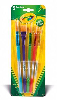 Crayola – Dessin Et Peinture – Blister De 5 Pinceaux: Blister de 5 pinceaux Crayola ! Ces 5 pinceaux aux poils synthétiques sont…