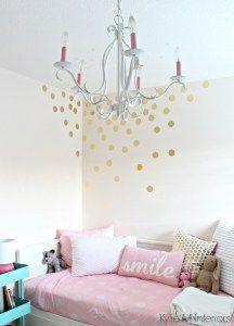 cutie-patootie girls bedroom: soft pink and gold | benjamin moore