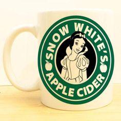 Snow White's Apple Cider Coffee Mug   Disney Princess Starbucks from www.wolffawn.com.