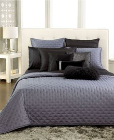 INC International Concepts Bedding, Black Incline Coverlet Collection - Sale Quilts & Bedspreads - Bed & Bath - Macy's