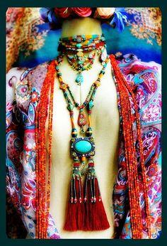 Bohemian Soul Jewelry נ Boho Hippie, Moda Hippie Chic, Hippy Chic, Bohemian Soul, Tribal Jewelry, Boho Gypsy, Bohemian Jewelry, Boho Chic, Modern Hippie