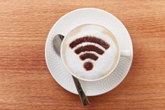 Small businesses are using older WiFi that doesn't fit their needs on several fronts. A new Linksys sponsored survey says half of the small businesses polled are using WiFi technology that's over eight years old. Marketing Articles, Coffee Latte, Free Wifi, Treats, Tableware, Ethnic Recipes, Food, Wi Fi, Bitcoin Wallet