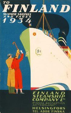 Finland Line - Finska Ångfartygs Ab - FÅA - Effoa - Finland Steamship Co. Vintage Advertisements, Vintage Ads, Finland Summer, Dazzle Camouflage, Finland Travel, Poster Boys, Old Ads, Vintage Travel Posters, Beautiful Places To Visit