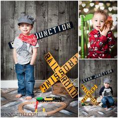kid photography train props