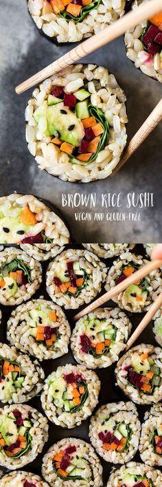#brownrice #sushi #vegan #vegansushi #healthy #plantbased #glutenfree #vegetarian #lunch #dinner #asian