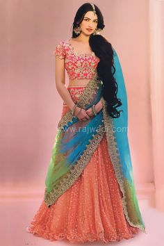 Indian fashion has changed with each passing era. The Indian fashion industry is rising by leaps and bounds, and every month one witnesses some new trend o Indian Lehenga, Indian Gowns, Indian Attire, Indian Ethnic Wear, Indian Wedding Dresses, Half Saree Designs, Lehenga Designs, Gharara Designs, Choli Designs
