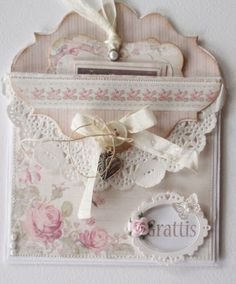 Lena's paper crafts; would make a great pocket in a mini album