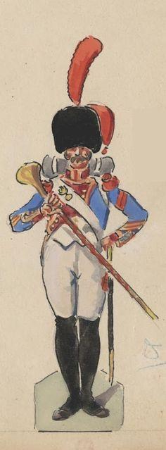 Tambour maître 12e de Ligne 1809