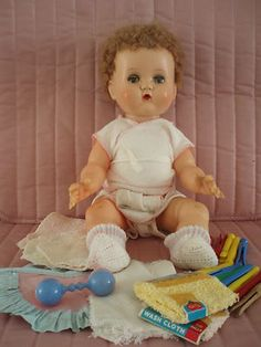 1950's Betsy Wetsy..I have this doll, very old,  use to sleep with her and she fell of the bed so many times she lost her hair in the back....