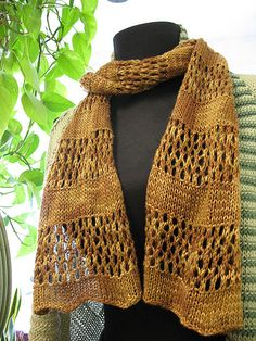 free knit scarf pattern, worsted wt yarn, ravelry