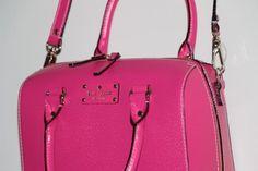 Kate Spade Wellesley Alessa Leather Shoulder Crossbody Handbag (Deeppink) WKRU1743 $279.99