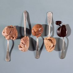 To spoon to your lover. To spoon to another. To spoon to yourself under the covers. These are four flavors of chocolate made for each other, plus a sauce to complement them all.