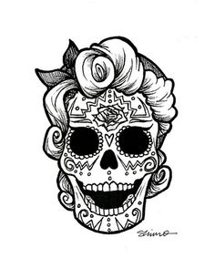 Catrina Day of the Dead Coloring Pages, dead decoration ideas . Skull Coloring Pages, Coloring Pages For Girls, Colouring Pages, Adult Coloring, Coloring Stuff, Colouring Sheets, Fairy Coloring, Coloring Books, Sugar Skull Tattoos
