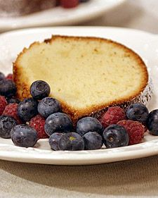 You can serve this rich, creamy cake unembellished, or, as chef David Waltuck recommends, dusted with confectioners' sugar and topped with a berry compote or freshly poached peaches and whipped cream.