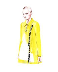 Dior Couture Spring Summer 2015 fashion illustration by Antonio Soares