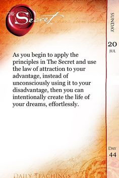 Use the #LawofAttraction to your advantage instead of unconsciously using it to your disadvantage. #TheSecret pic.twitter.com/z7AER8QDxT
