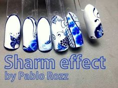 Sharm effect flower nail art by Pablo Rozz - YouTube
