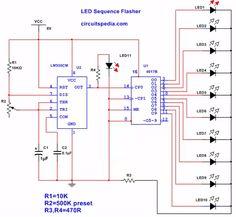 CD4017 Circuit Diagram Circuits in 2019 Diagram