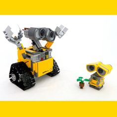 Vinyl Wall-E spotted trying to steal from #lego Wall-E!
