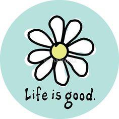 Life is Good Aqua by jennaannx11