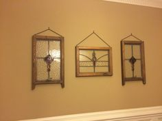 Repurposed Items, Stained Glass Windows, Decorating Ideas, Interiors, Mirror, Frame, Diy, Furniture, Home Decor