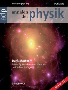 Annalen der Physik Special Issue: Dark Matter  http://onlinelibrary.wiley.com/doi/10.1002/andp.v524.9/10/issuetoc
