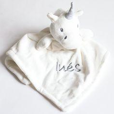 Chaleco de bebé bordados Unicornio cara-Personalizado con nombre