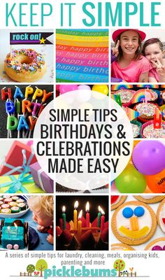 Simple tips and ideas for making birthdays and celebrations easy! PLus a free printable party planner. First Birthday Parties, Birthday Party Themes, Birthday Ideas, Preschool Birthday, Happy Birth, Party Printables, Party Planning, Party Time, Free Printable