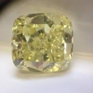 Other - Cushion cut natural fancy yellow diamond of 15.03 ct