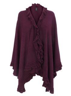 Burgundy Ruffle Edge Wrap - Gifts for Her  - Christmas £25