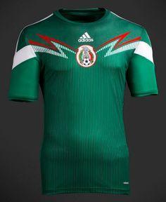 mexico-adidas-2014-home #FIFA #WorldCup #Brazil #Mexico #adidas