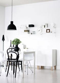 Via NordicDays.nl | Design on a Budget: IKEA Melltorp Table #design #interieur #interior