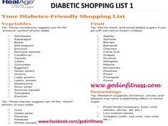 Diabetic Shopping List- Part 1
