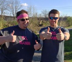 John and Matt spent their morning volunteering at the Komen Race for the Cure. Congratulations to all of the participants! — with John Cornthwait and Matthew Sams.