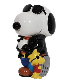 Grew up reading Snoopy and the Peanuts Gang.  Love this Peanuts Joe Cool Cookie Jar on #zulily! #zulilyfinds