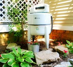 Vintage Washing Machine Fountain - Chaotically Creative