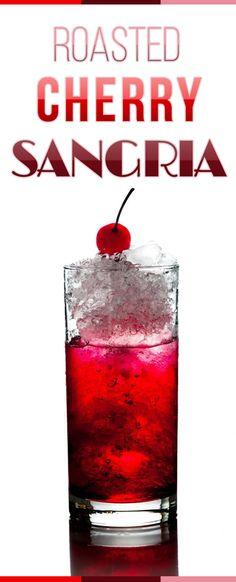 Gebratene Kirsch Sangria.  Solange ich liebte ich an einem heißen Sommertag den Geschmack von frischem cherrys erinnern kann.  Dieses Rezept ist perfekt, während Sommerabende zu genießen zusammen mit Ihren Freunden und Familie.