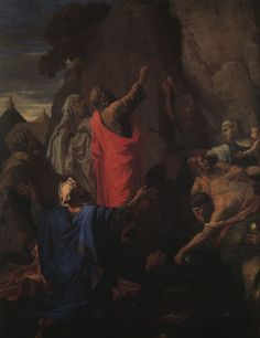 nicolas poussin moses strikes water from a rock 1649