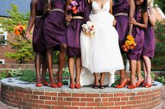 if i got married to Josh again, it would be in the fall and we'd all be wearing purple and orange.