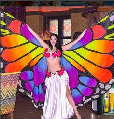 Крылья для танца! Яркое шоу с крыльями бабочка Алисы!