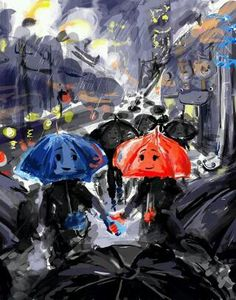 My favorite Disney Pixar short film: The Blue Umbrella ☺️☔️❤️ Disney Nerd, Cute Disney, Disney Pixar, Disney Dream, Umbrella Art, The Blue Umbrella, Animation Stop Motion, Disney Shorts, Disney Kunst