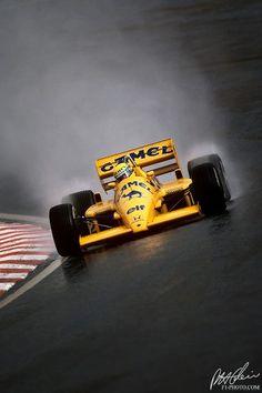 1987 - Formula 1 - Lotus - Ayrton Senna #F1 #Senna #Lotus