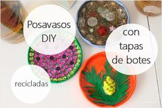 Tutorial para aprender a hacer tus posavasos DIY con tapas de botes recicladas / Tutorial to learn how to make your DIY coasters with recycled boat covers