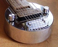 Lap Steel Guitar - made by OnlineMetals customer using 6061 Aluminum http://blog.onlinemetals.com/custom-metal-guitars-aluminum-magic/