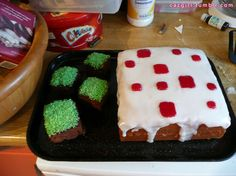 Minecraft cake and grass blocks    Completed Project: Minecraft Cake Picture #1