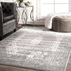 Shop for nuLoom Traditional Vintage Distressed Grey Medallion Elaborate Border Rug (8'2 x 11'6). Get free shipping at Overstock - Your Online Home Decor Outlet Store! Get 5% in rewards with Club O! - 23614835