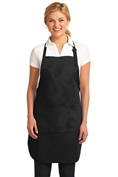 Port Authority Novelty And Special Use Easy Care Full Length Apron OSFA Black